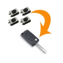 4 X Switch clé Citroën C8