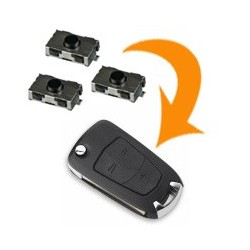 3 X Switch clé pliante Opel